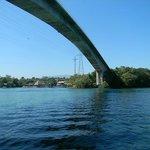 Amazing bridge spanning the Rio Dulce River