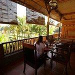 Durante la colazione dalla camera vista giardino..