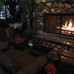 cozy bar fireplace