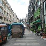 Shopping carts outside hotel