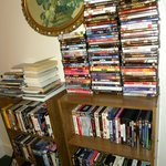 Large selection of movies to borrow