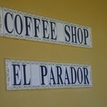 Sign at the entrance to El Parador