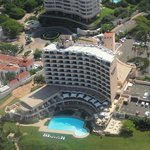 Beverley Hills Hotel Umhlanga Rocks Durban South Africa from the air.