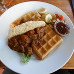 Chicken Curry Waffle (Savoury)