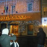 Christmas Lights on the Hotel S'Anna