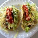 2 tacos with homemade salsa