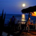 Nighttime overlooking the ocean