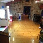 the arcade room has skee ball, big buck hunter, and key master!