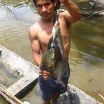 fisherman at the lodge
