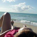 Relaxing on Beach.