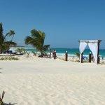 espace mariage sur la plage deu site