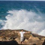 Large waves, dangerous and exhilarating