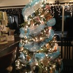 Nautical-themed Christmas tree at the Seaside Restaurant