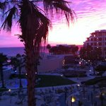 crazy purple sunset from our balcony
