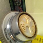 rusted and moldy shower head