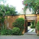 entrance of villa