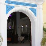 Doorway in courtyard