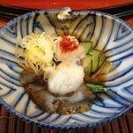 second dish kaiseki set - squid