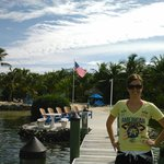 This me standing on the dock by the beach area at the resort