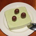 Delicious green tea ice cream for dessert! Yummy!!