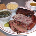 Pit Master's Choice Plate with Greens & Mac & Cheese