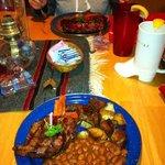 meat & beans & potatoes!