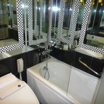 Bathroom with mirrors everywhere