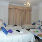 The triple room, with an extra bed fitted my 2 small kids, myself and hubby all very comfortably
