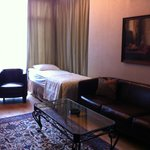 Comfortable Suite with nice sitting area overlooking the city.