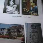 Page from the folder on Rebecca Schaeffer