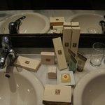 An astonishing selection of bathroom amenities