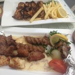 mixed grill and chicken wings. d
