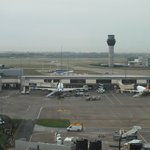 Runway and control tower view from room