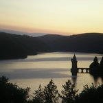 Sunrise at Lake Vyrnwy (taken from the bathroom)