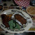 Plato de carne con guarnición