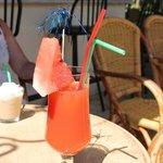 mysig bar/restaurang med goda drinkar