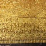 Ornate decorations in Wat Sensoukaram