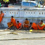 Monks taking a breather