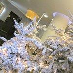 Alberi di Natale nella hall