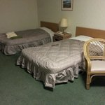 A twin-bed room