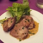 Le foie gras de canard poelé sauce au poivre