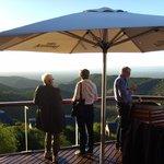Utsikt från lodgens altan
