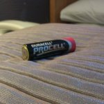 There was a battery IN OUR BED...no joke