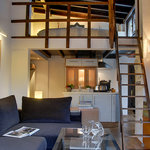 Penthouse Private terrace with Alhambra view - Lounge, kitchenette & mezzanine bedroom
