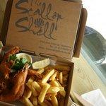 King size prawns & chips