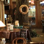 There is a real tree in the middle of the restaurant!