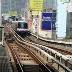 The Sky train, pay at the atms