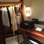 XS wardrobe in L dressing room