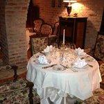 very nice, delicate, romantic atmosphere in the restaurant
