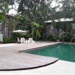 Serene pool area